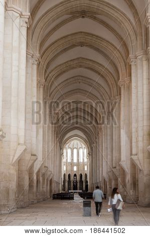 The Alcobaca Monastery is a Mediaeval Roman Catholic monastery located in the town of Alcobaca Portugal
