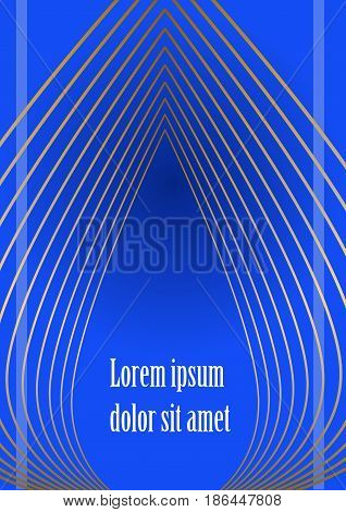 Abstract outline background in dark blue, light triangles rotating on dark area, place for own message, headline. Leaflet, flyer, bill, poster, cover design.. Vector EPS 10