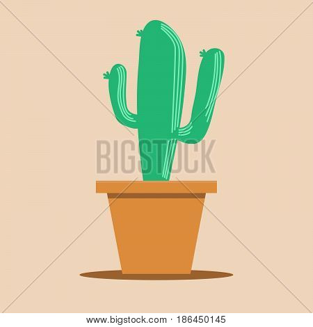 Saguaro Cactus stock vector art illustrator design
