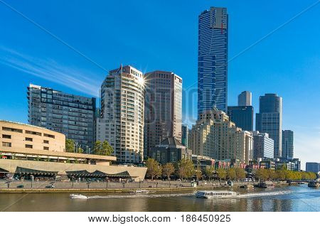 Beautiful Melbourne Cityscape With River View