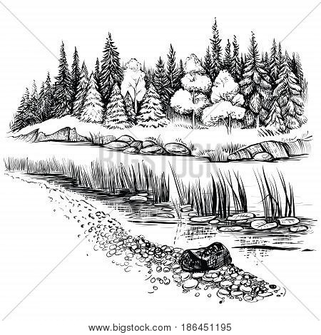 23+ River Vector Black And White