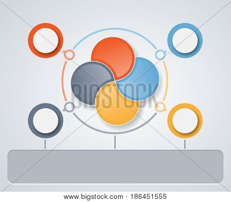 Illustration Infographics web design marketing icons for layout, diagram, annual report. Business concept options.