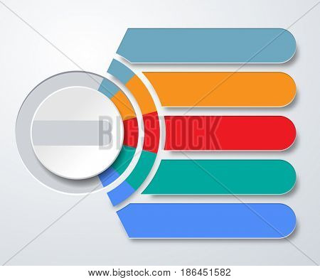 Infographics web marketing icons for layout, diagram, annual report, design. Business concept options. Illustration