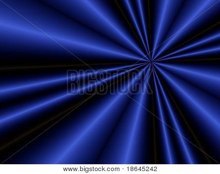 Fractal image of a folded dark blue satin sheet.