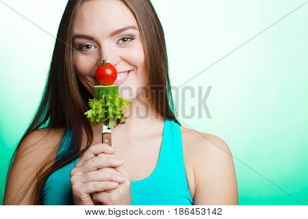 Woman On Diet Weight Loss Concept.