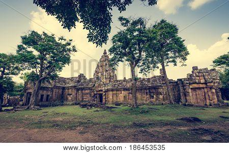 Prasat Hin Phanom Rung Or Phanom Rung Stone Castle.