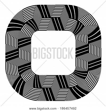 Abstract design element. Lines pattern. Vector art.