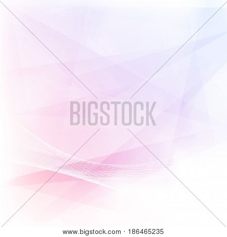 Minimalistic simple geometrical abstract pink color triangular background. Vector illustration