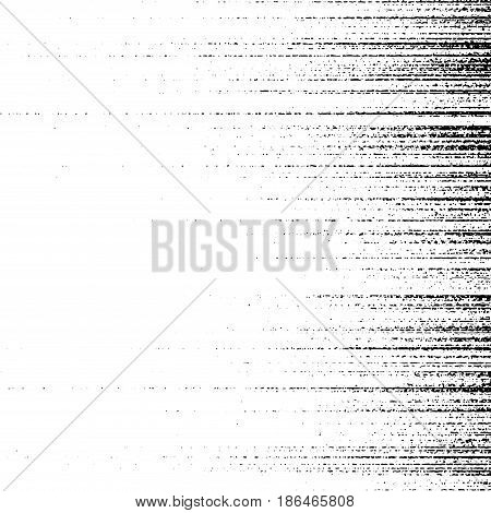 Abstract white and black distressed particle grunge background. Dust grunge retro effect to place over any illustration. Vector illustration