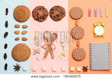 Chocolate Cookies On Pale Background