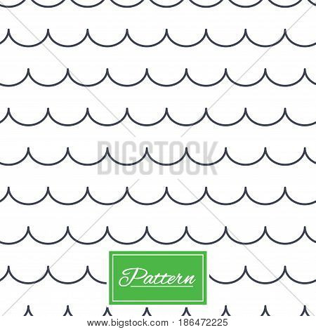 Waves lines texture. Stripped geometric seamless pattern. Modern repeating stylish texture. Abstract minimal pattern background. Vector