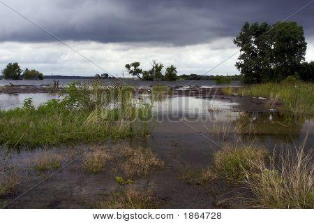 Flooded Land At Lake Benbrook