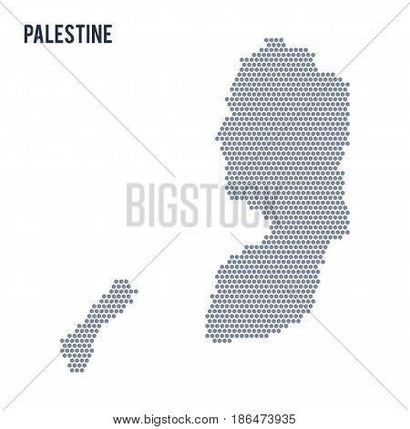 Vector hexagon map of Palestine . Business space in the country