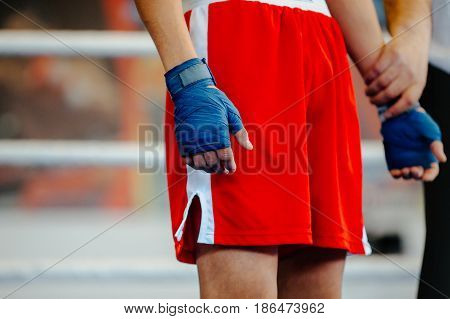 winner announced in boxing fight in ring