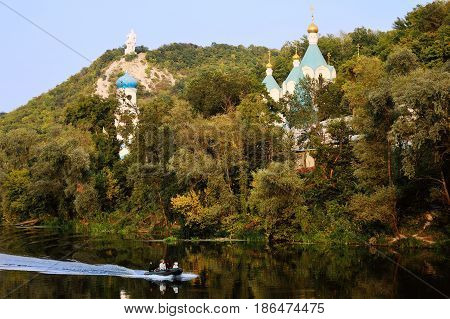 Holy Assumption Lavra - Orthodox monastery in Svyatogorsk Donetsk region