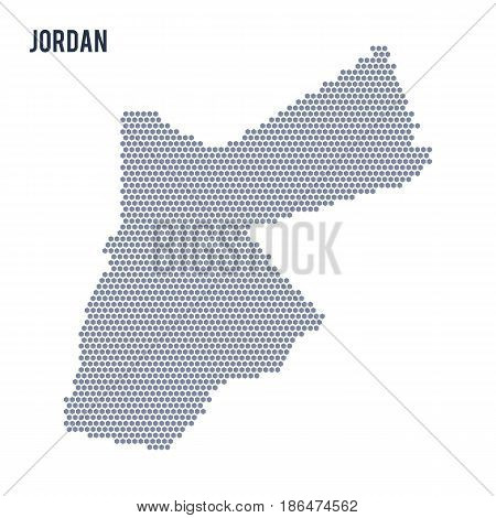 Vector hexagon map of Jordan . Business space in the country