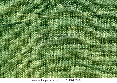 Green Hessian Sack Cloth Texture.