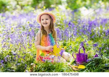 Kids In Bluebell Garden