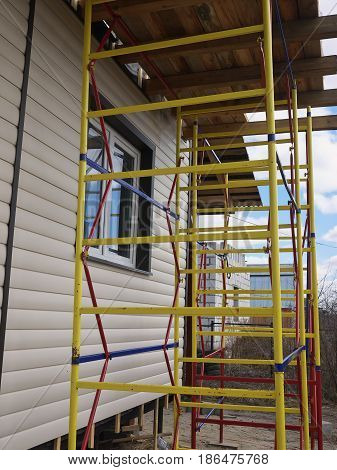 Repaired Rural House, Fixed The Facade, Waterproofing Wood House By Vinyl Plasting Siding
