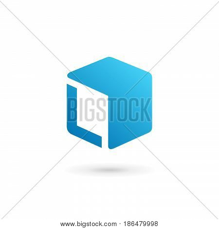 Letter L Cube Logo Icon Design Template Elements