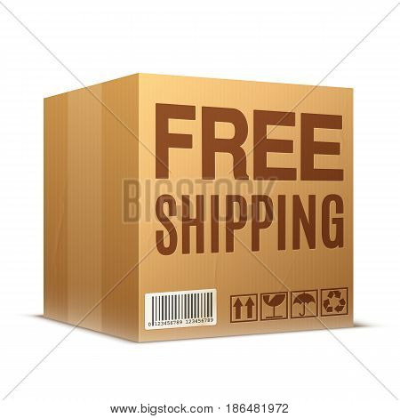 Set of free shipping and free delivery cardboard labels