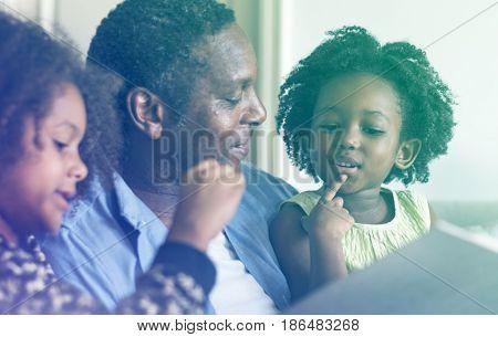 Father Daughter Look Photo Album Memory