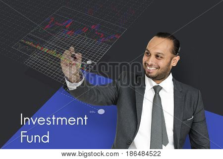 Stock Exchange Market Forex Trade Investment Fund Graph