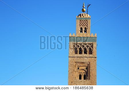 History   Maroc    Minaret Religion And The Blue     Sky