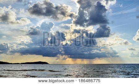 Sunrise And Rain On Koh Samui
