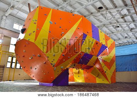 Big Artificial Practice Climbing Wall