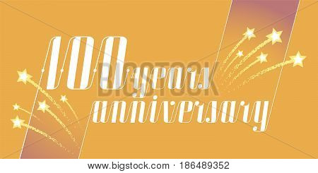 100 years anniversary vector icon logo. Graphic design element or banner for 100th anniversary