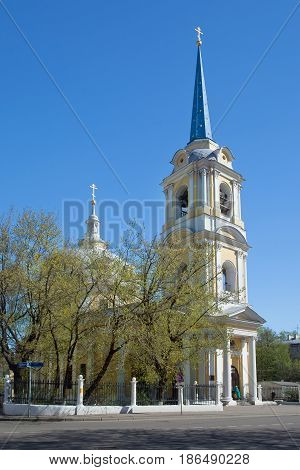 Church of the ascension on Gorokhovo field street Radio 2 Moscow