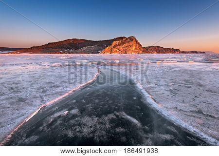 Bay Uzur in the Morning Olkhon Island Lake Baikal Russia