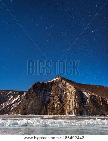 Night Sky over Bay Uzur Olkhon Island Lake Baikal Russia