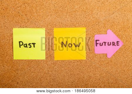 Words Past / Future / Now on Bulletin Board