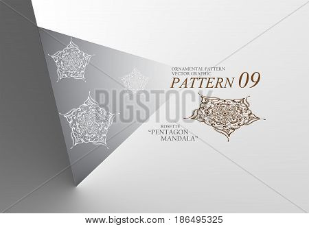 Ornament hexagon grid patterns. Inspired from snow flake. This is hand drawn graphic. It's available in vector file (.ai) included using example hexagon grid
