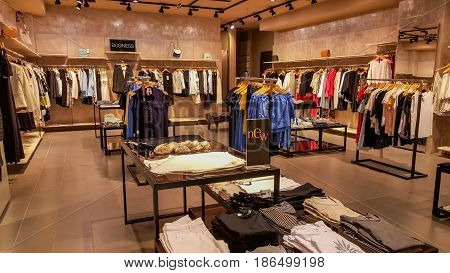 Eskisehir, Turkey - April 18, 2017: Fashionable Business Woman Clothes In A Boutique Store In Eskise