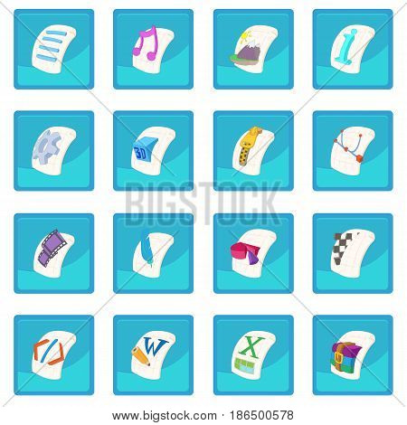 File Type icon blue app for any design vector illustration