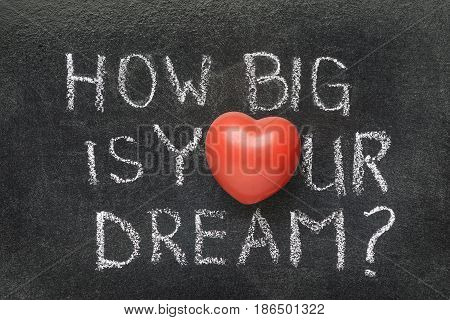 How Big Is Your Dream