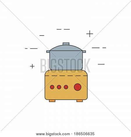 Food Processor Isolated Line Icon.