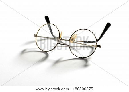 Pair Of Old Vintage Wire Framed Eyeglasses
