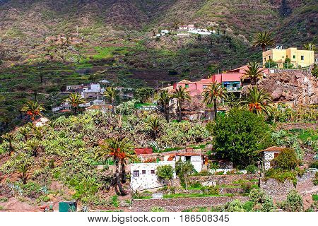 Romantic Masca village. Canary Islands. Tenerife. Spain