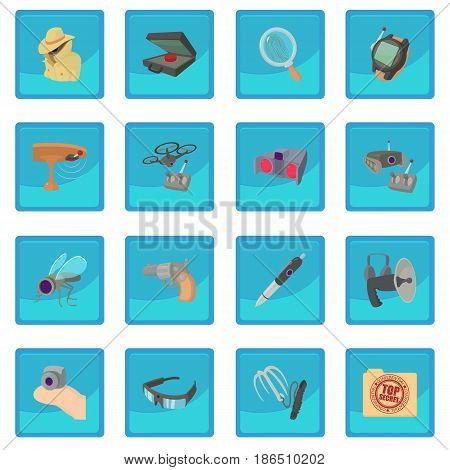 Spy and security icon blue app for any design vector illustration