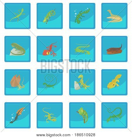 Lizard type animals icon blue app for any design vector illustration