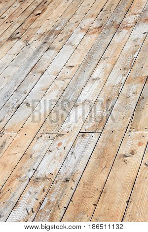 Old Wood Planks On Diagonal, Perfect Background For Your Concept Or Project.