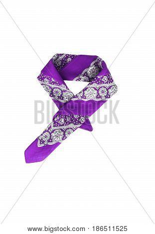 Lilac, Violet, Purple, Manzhenta Scarf, Bandanna, Pattern, Isolated