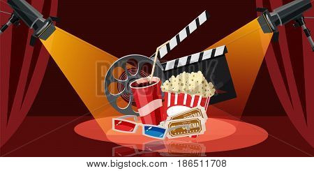 Cinema movie icons set. Cartoon illustration of 16 cinema movie vector icons for web
