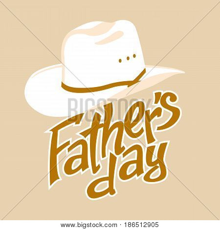 father's day vector illustration greeting card  lettering