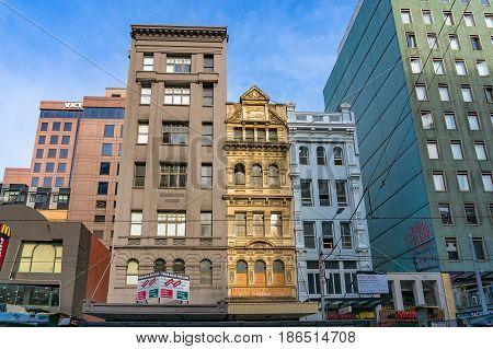 Melbourne Heritage Buildings On Elizabeth Street