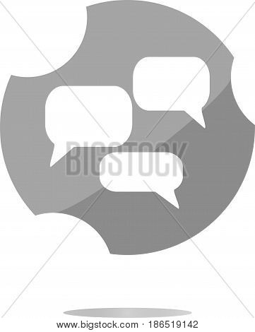 Speech Cloud On Web Icon Button Isolated On White